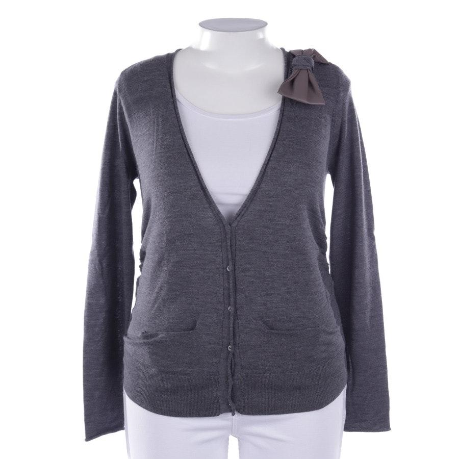 knitwear from Schumacher in grey mottled size L