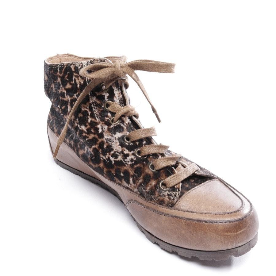 High-Top Sneaker von Candice Cooper in Beigebraun und Schwarz Gr. D 38