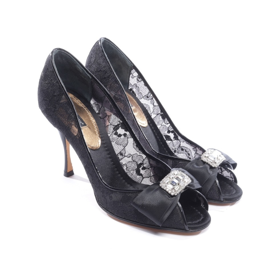 heeled sandals from Dolce & Gabbana in black size D 38,5