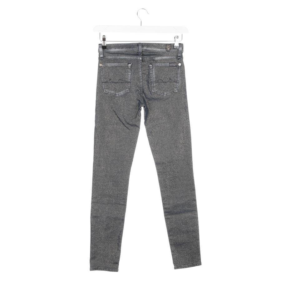 Jeans von 7 for all mankind in Graublau und Gold Gr. W27