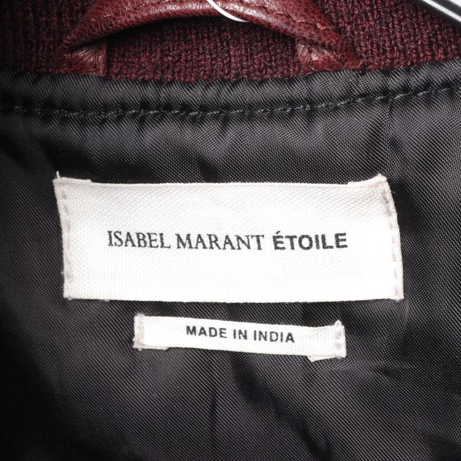 Lederblouson von Isabel Marant Étoile in Bordeaux Gr. 42 FR 44
