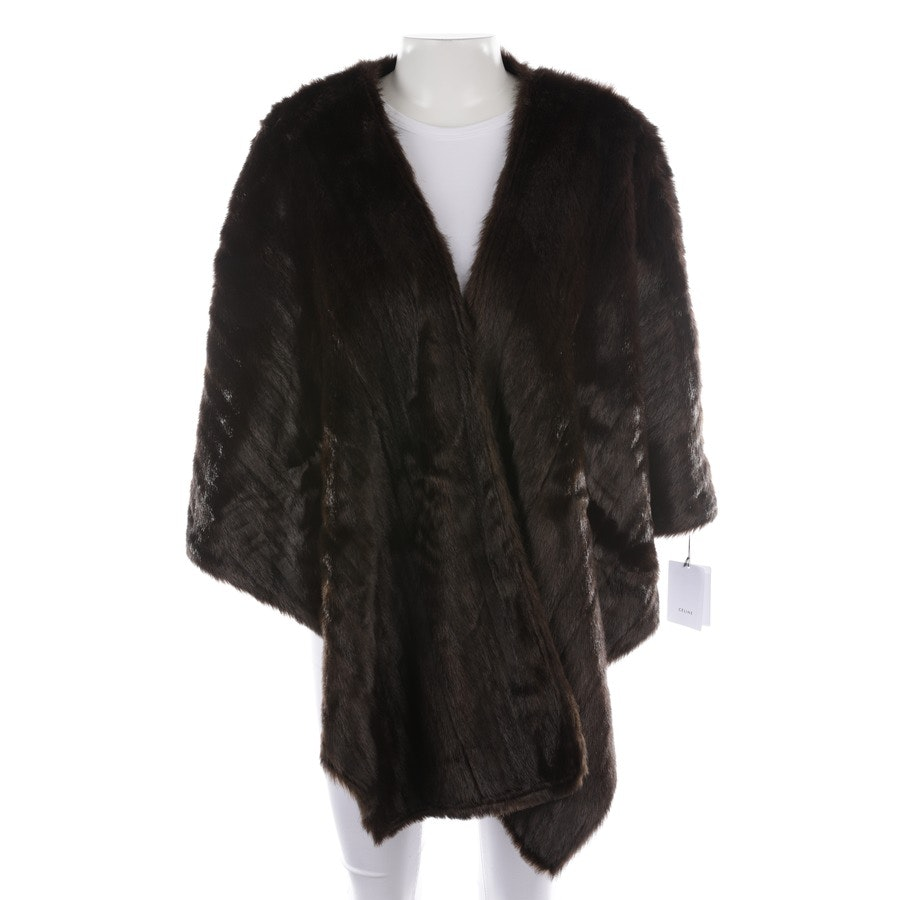 cape from Céline in chocolate brown and black - new