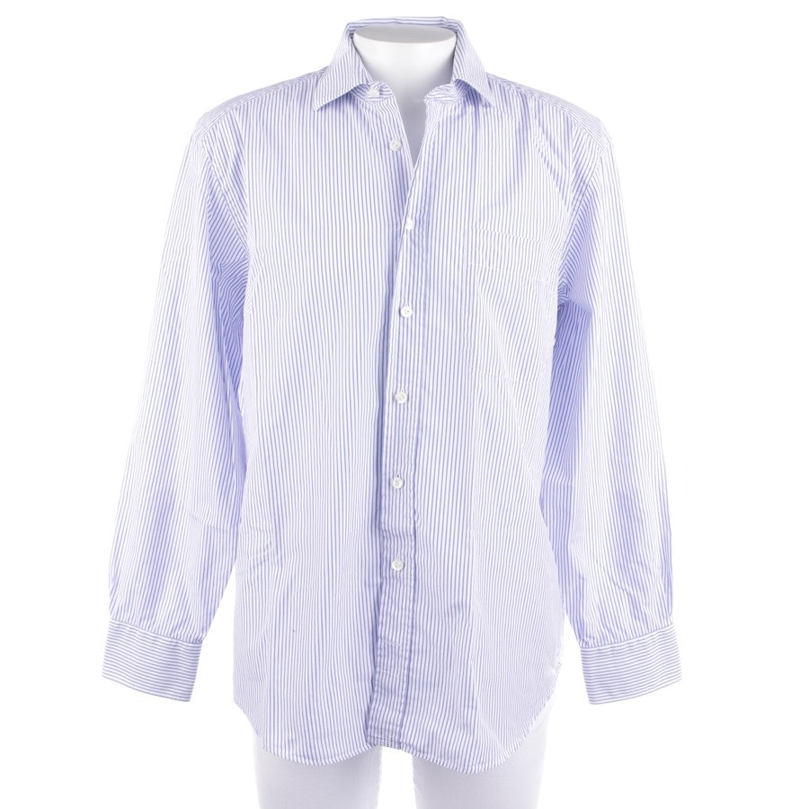 casual shirt from Van Laack in white and blue size 44 - rivara