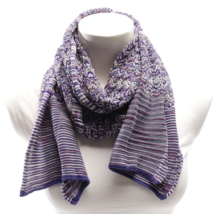 scarf from Missoni in blue and white