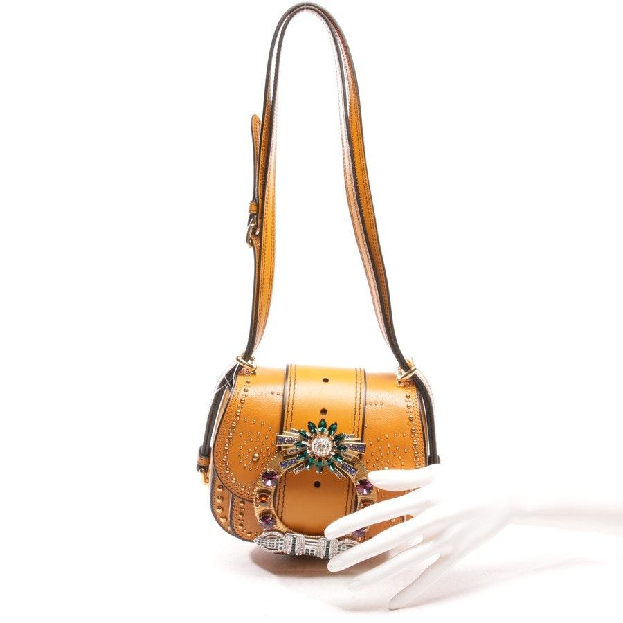 shoulder bag from Miu Miu in caramel - dahlia jeweled buckle bag
