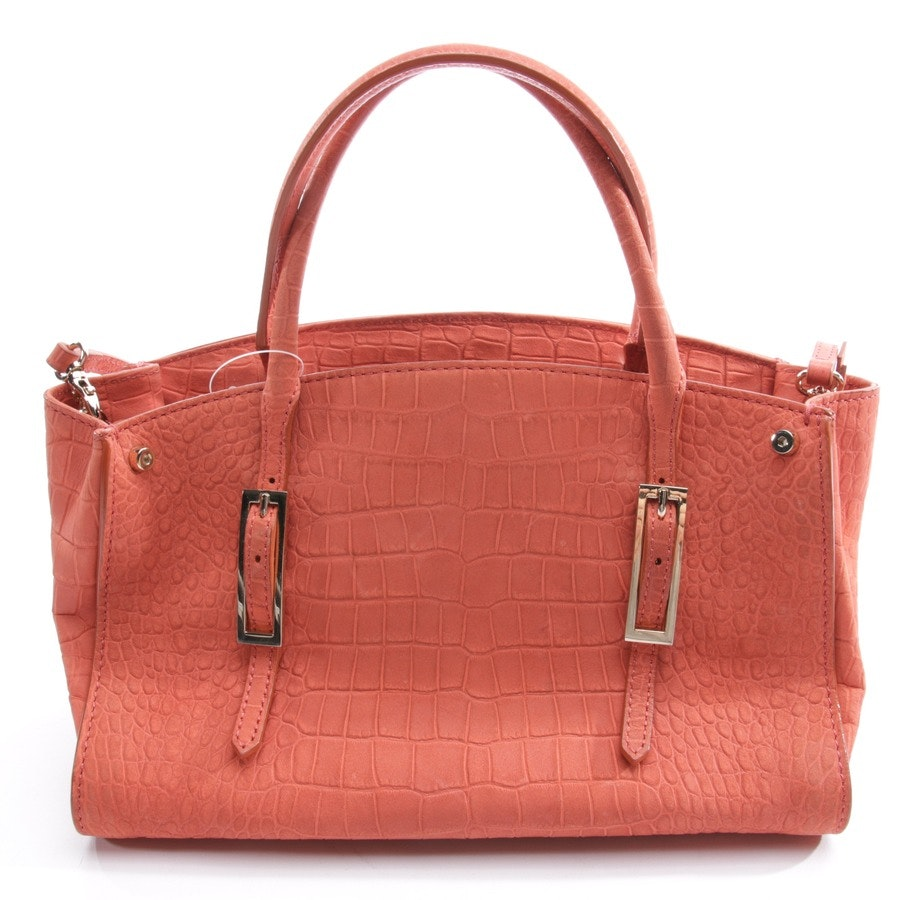 handbag from Coccinelle in coral red