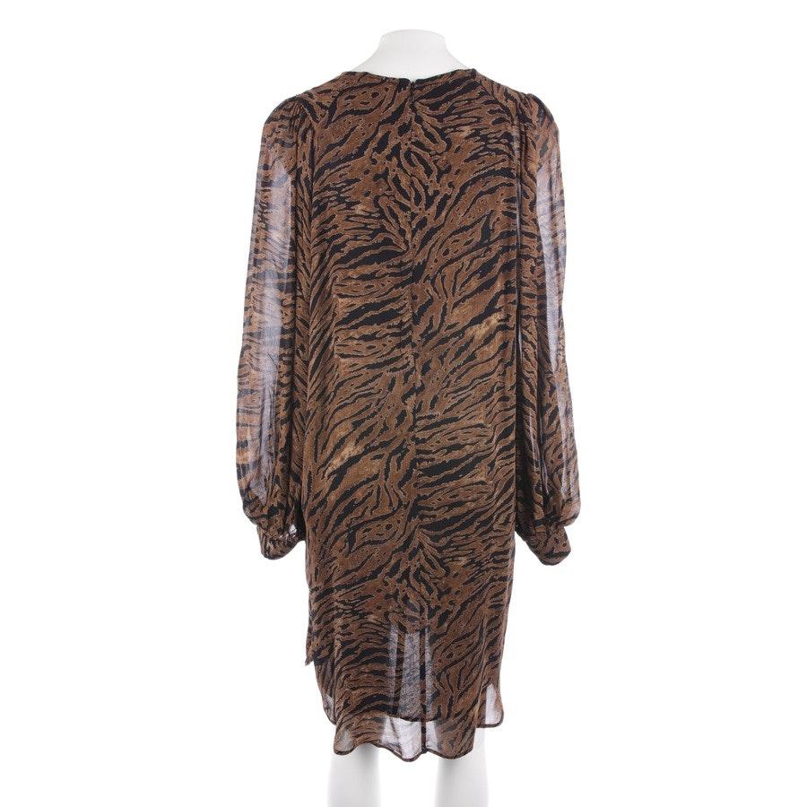 Kleid von Ganni in Camel und Schwarz Gr. 36 FR 38