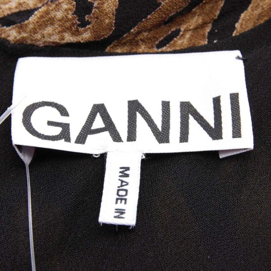 Kleid von Ganni in Beigebraun und Schwarz Gr. 32 FR 34