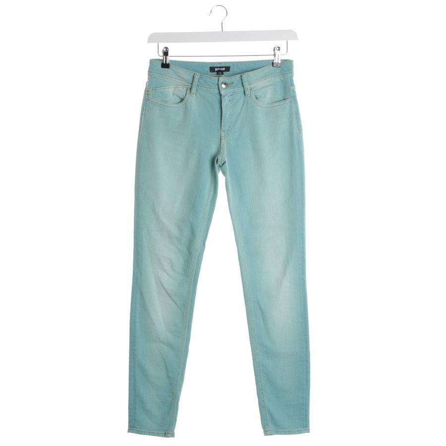 jeans from Just Cavalli in turquoise size W28
