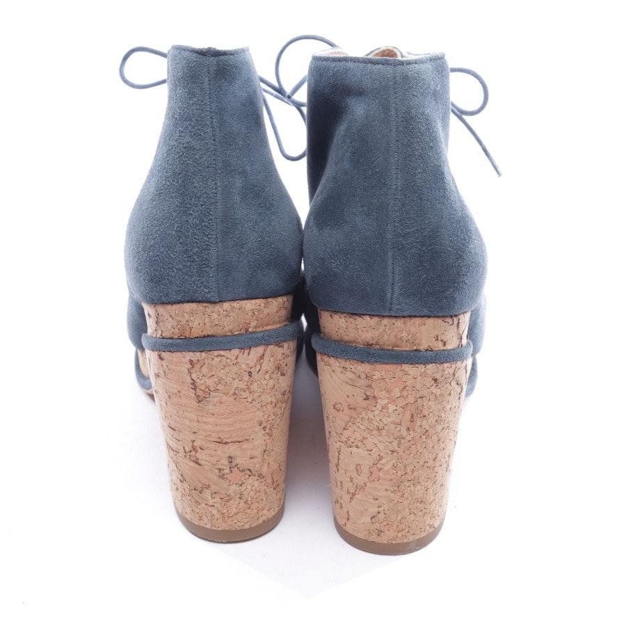 Ankle Boots von Chanel in Taubenblau Gr. EUR 37,5