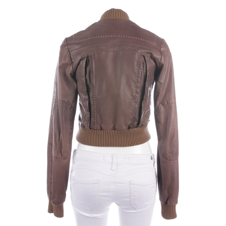 leather jacket from Just Cavalli in beige-brown size 38 IT 44
