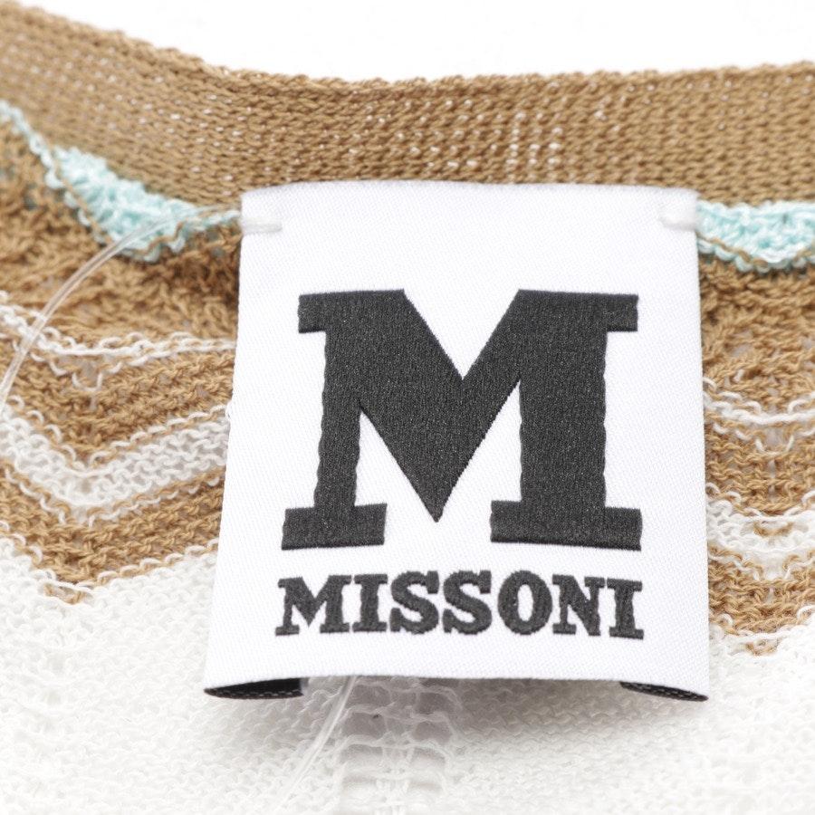 Feinstrickweste von Missoni M in Weiß und Mehrfarbig Gr. 38 IT 44 - Neu