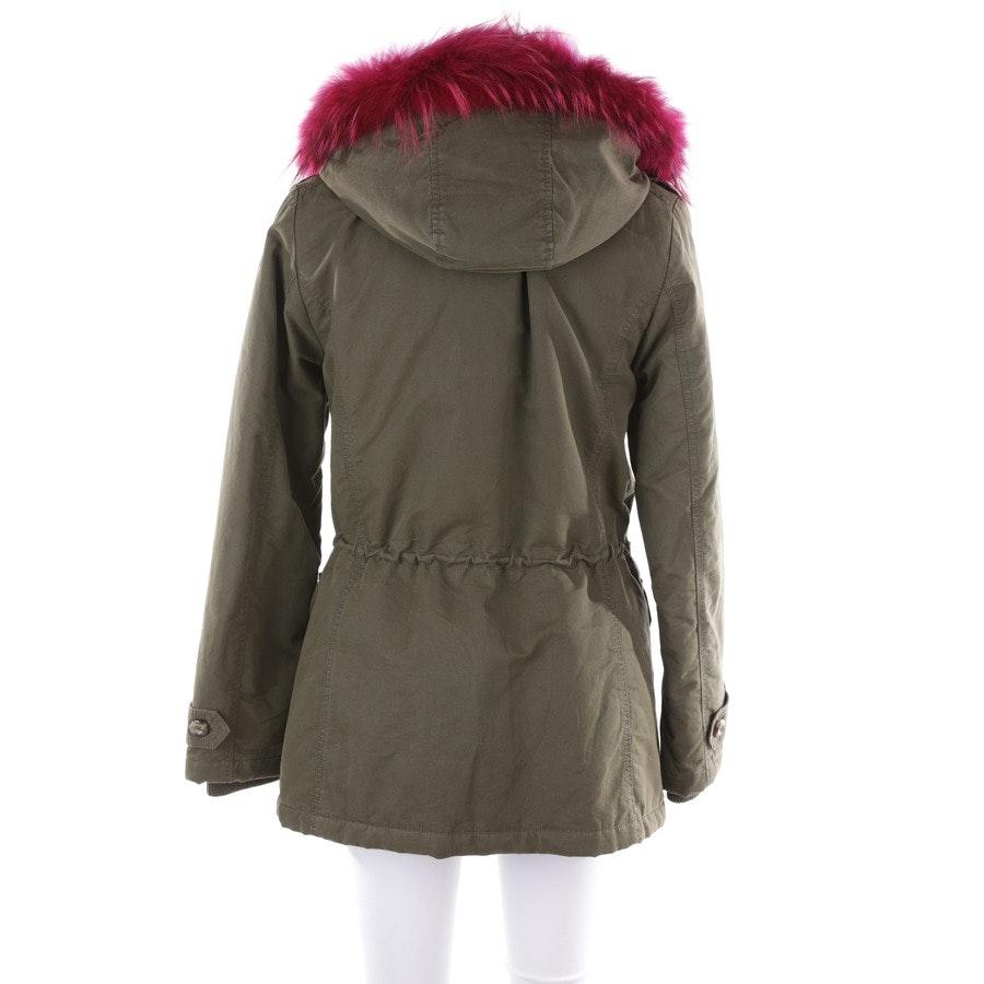winter coat from IQ Berlin in olive green size DE 38