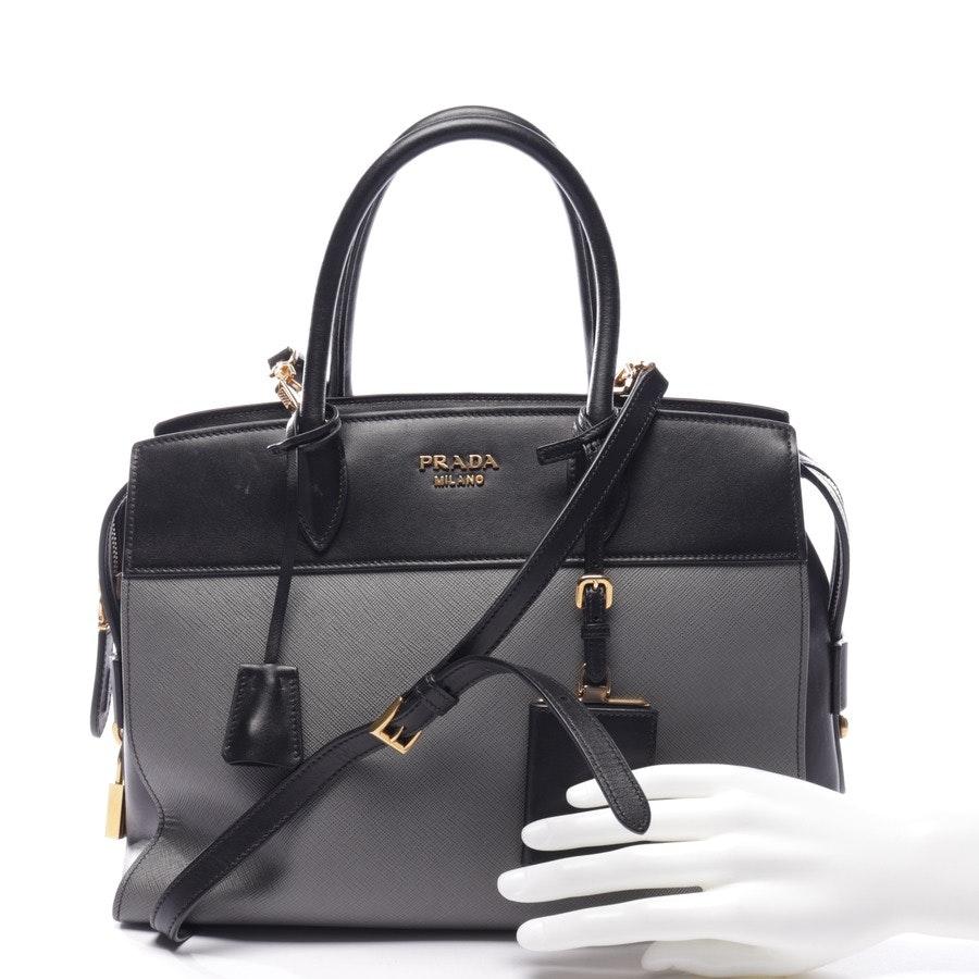Handtasche von Prada in Schwarz und Grau