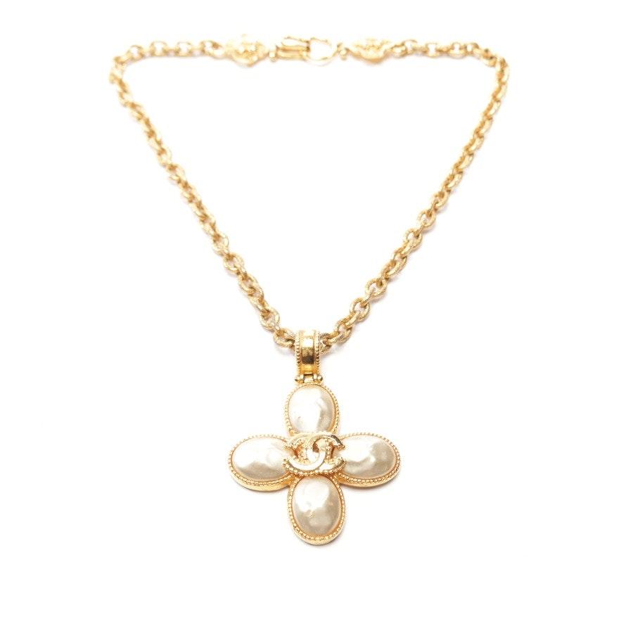 Kette von Chanel in Gold und Beige