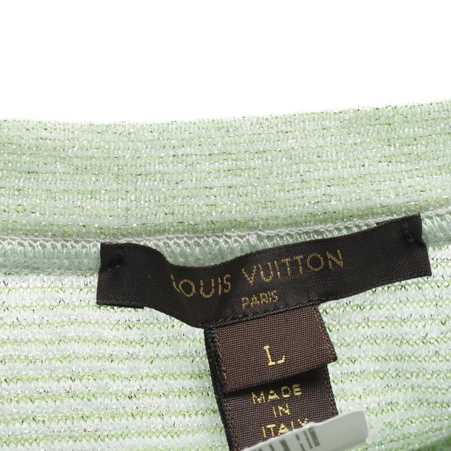 Pullover von Louis Vuitton in Pastellgrün und Weiß Gr. L