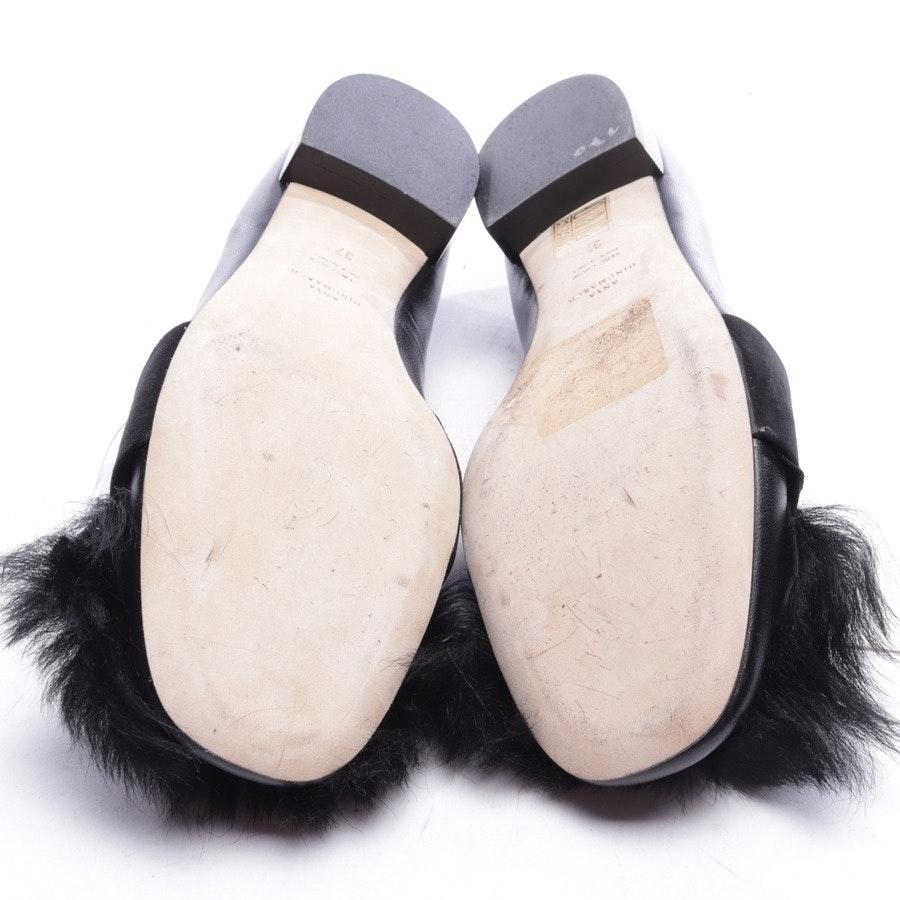 Ballerinas von Anya Hindmarch in Schwarz und Silber Gr. EUR 37