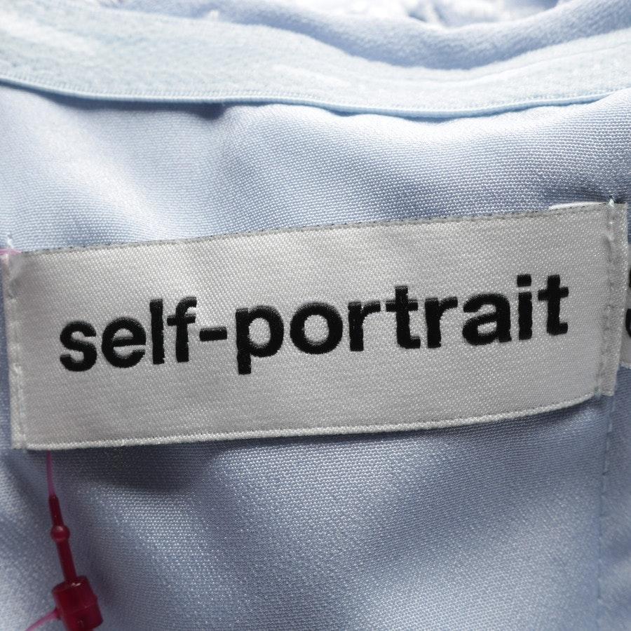 Bandeaukleid von self-portrait in Hellblau und Weiß Gr. 34 UK 8 - Neu