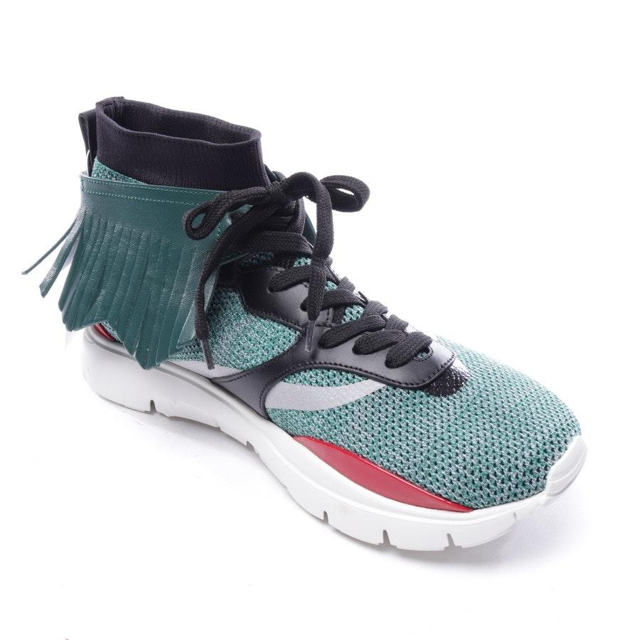 High-Top Sneaker von Valentino in Dunkelgrün und Multicolor Gr. D 40 - Rockstud