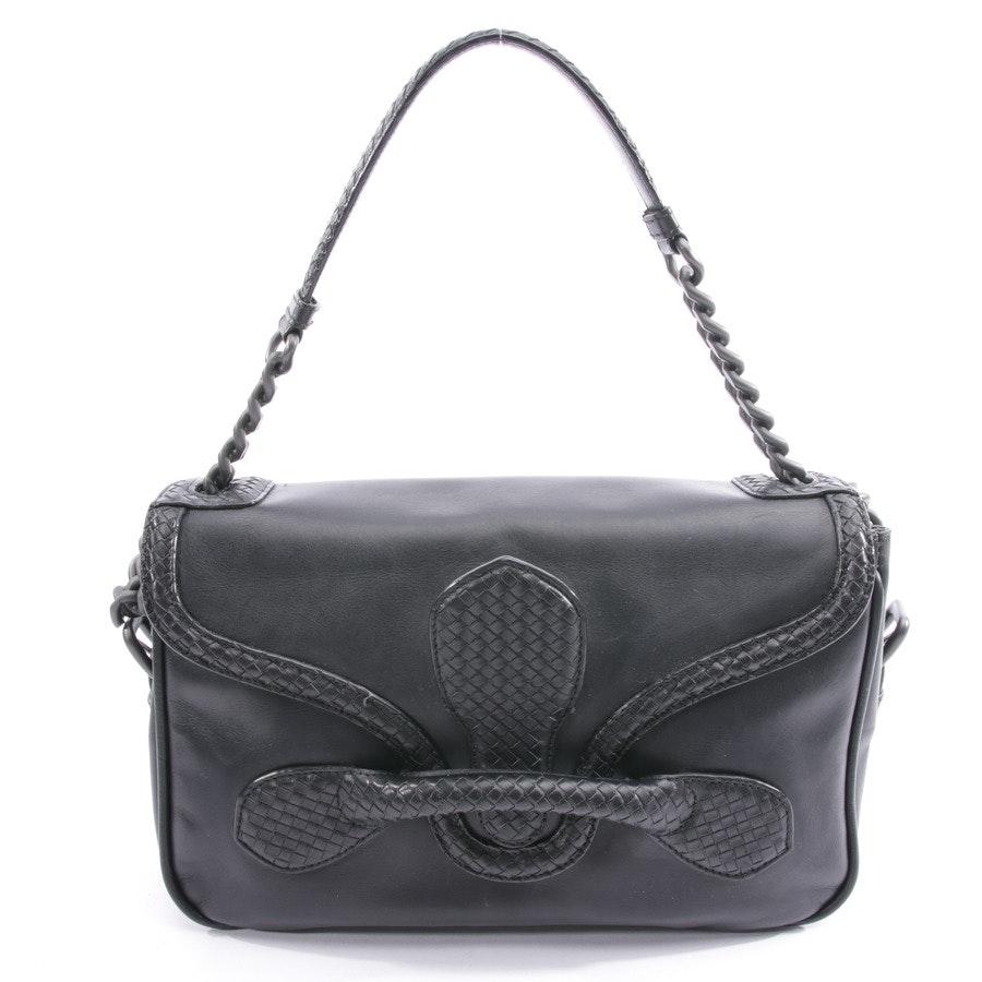 shoulder bag from Bottega Veneta in black - chain dark intrecciato flap