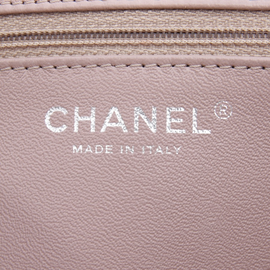 shopper from Chanel in aubergine and beige