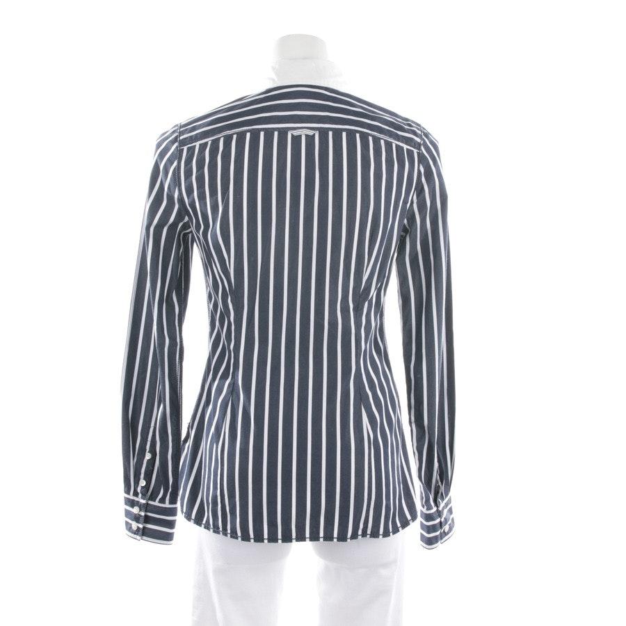 Bluse von Tommy Hilfiger in Weiß und Blau Gr. 36 US 6