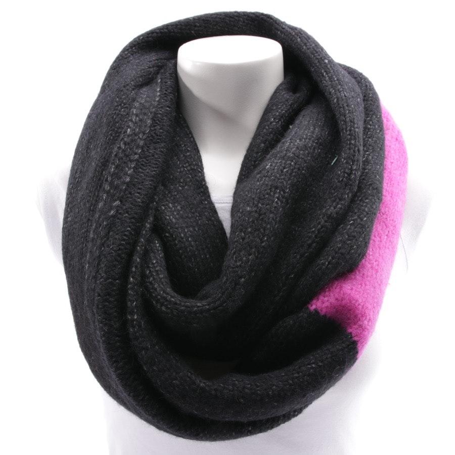 Schal von Frogbox in Schwarz meliert und Pink