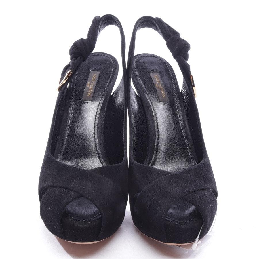 Slingbacks von Louis Vuitton in Schwarz Gr. D 37,5 - Neu