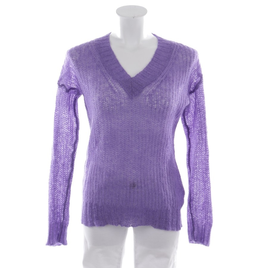 knitwear from Rich & Royal in purple and silver size M