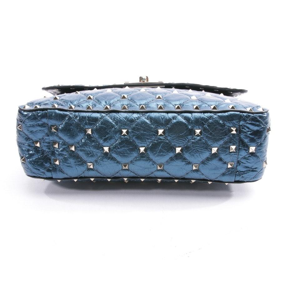 shoulder bag from Valentino in pacific blue - rockstud spike medium metallic - new