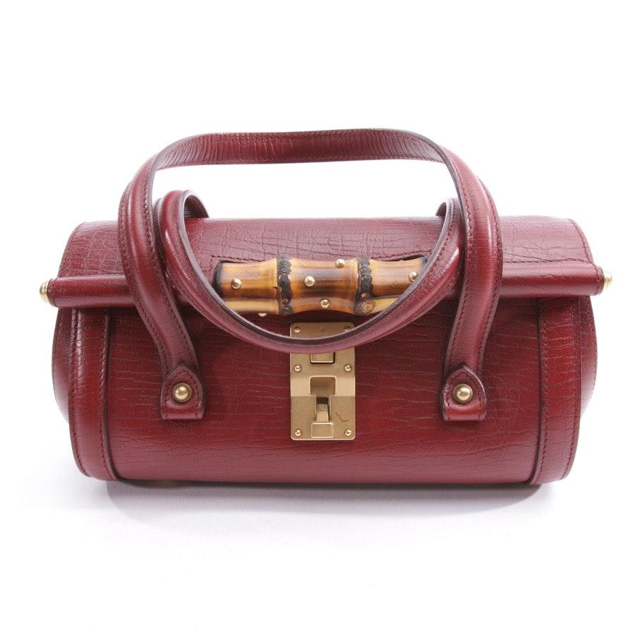 Abendtasche von Gucci in Bordeaux - Mini Bamboo Bullet Bag