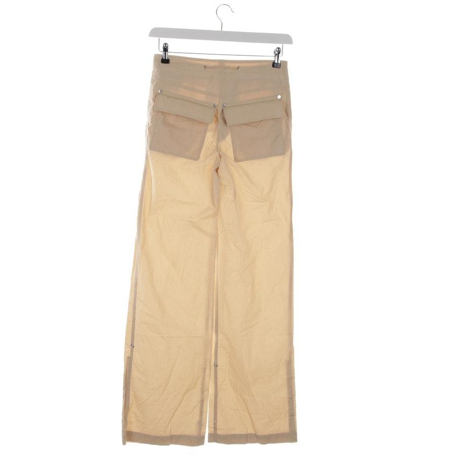 trousers from Hugo Boss Black Label in beige size 32