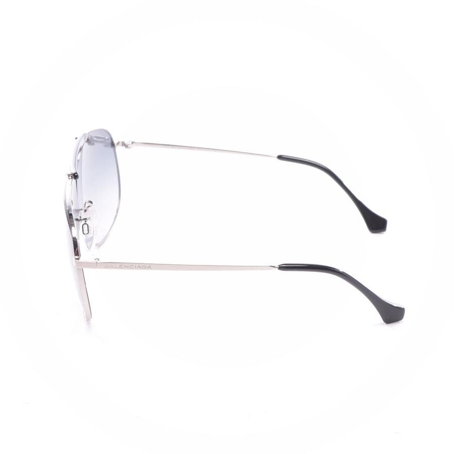 Sonnenbrille von Balenciaga in Silber und Schwarz - BA30