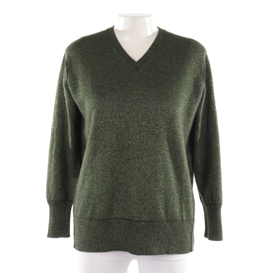 knitwear from Allude in apple green and black size L
