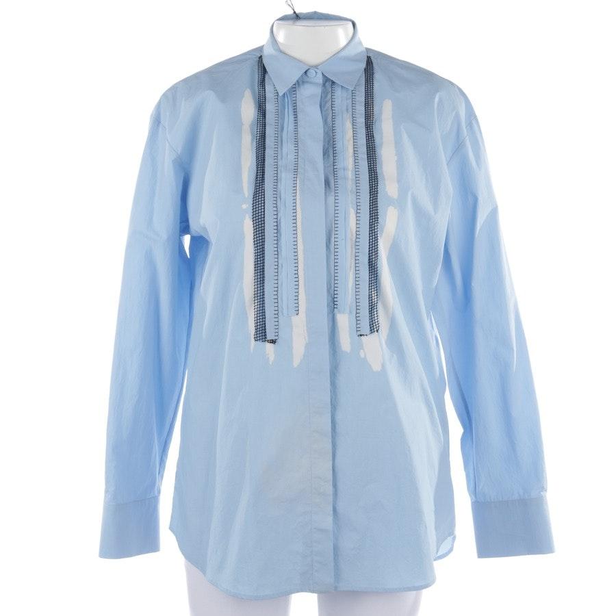 Bluse von Bottega Veneta in Hellblau und Weiß Gr. 36 IT 42 - Neu