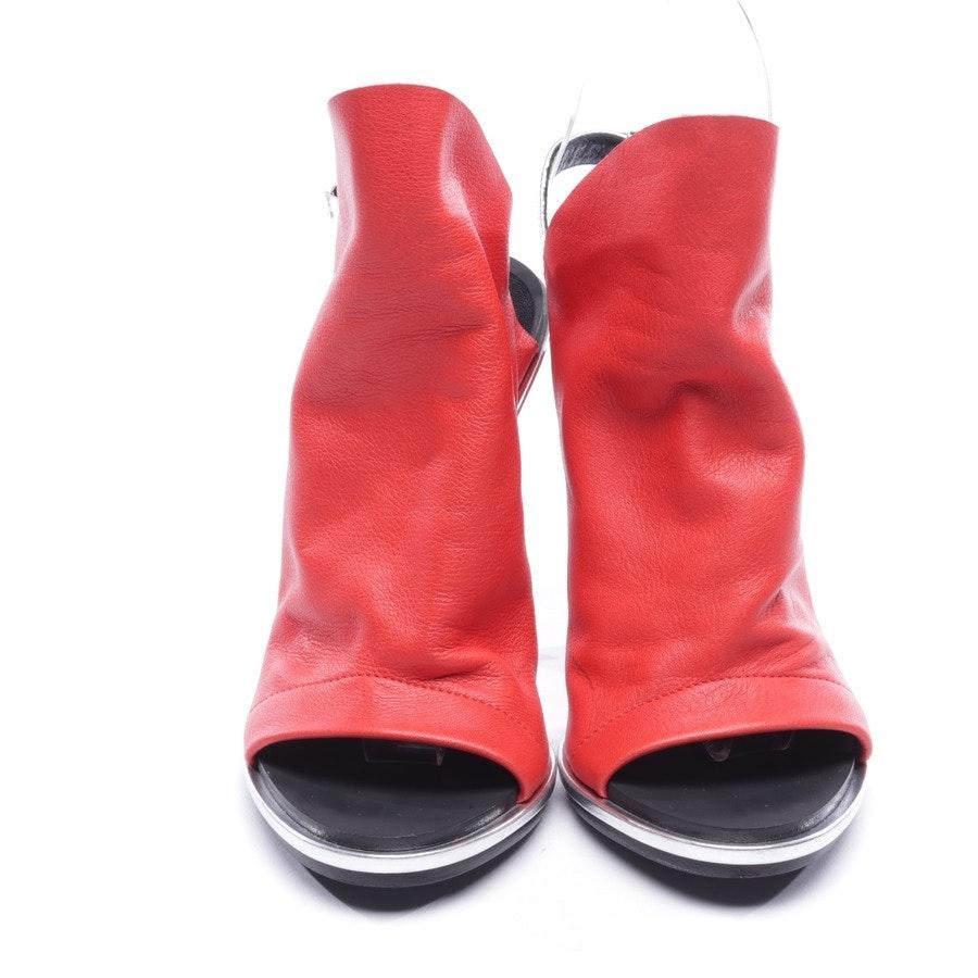 Sandaletten von Balenciaga in Orange und Silber Gr. D 36,5
