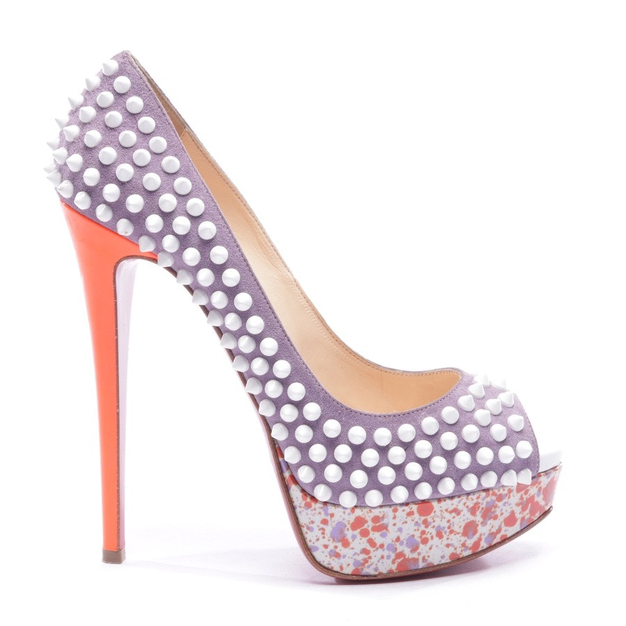 Peeptoes von Christian Louboutin in Multicolor Gr. D 37 - LADY PEEP SPIKES