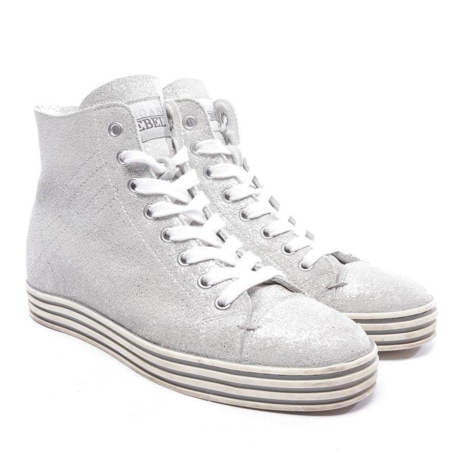 High-Top Sneakers von Hogan Rebel in Silber Gr. D 36