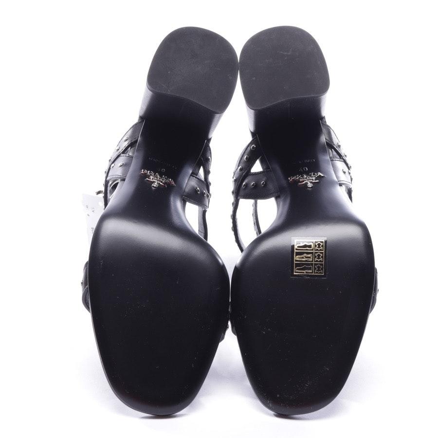 Sandaletten von Prada in Schwarz Gr. D 40 - Neu