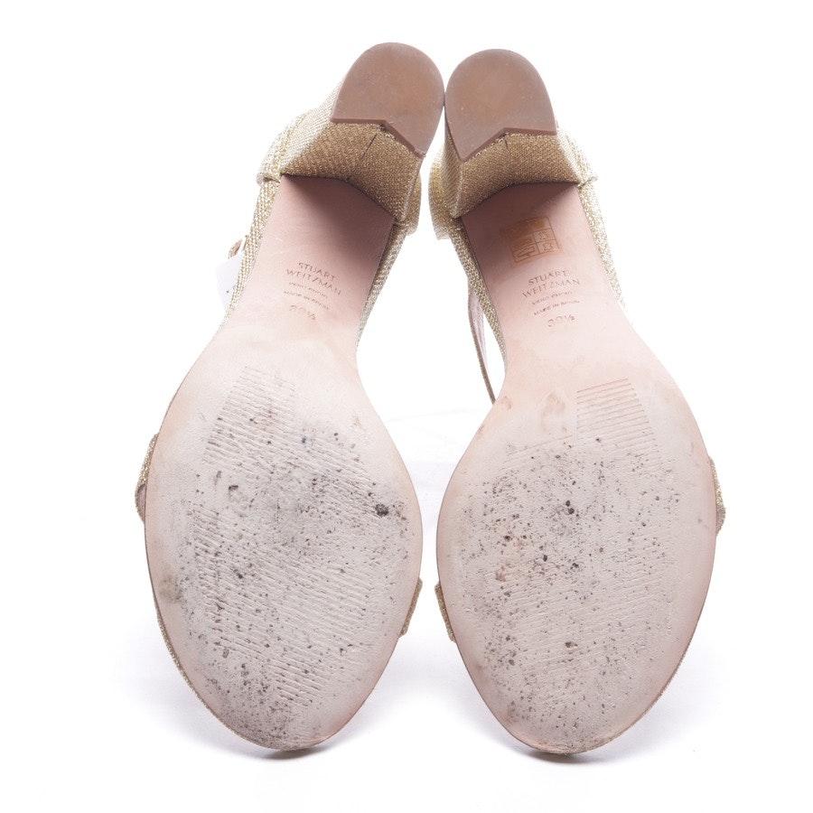 Sandaletten von Stuart Weitzman in Gold Gr. D 39,5 - Neu
