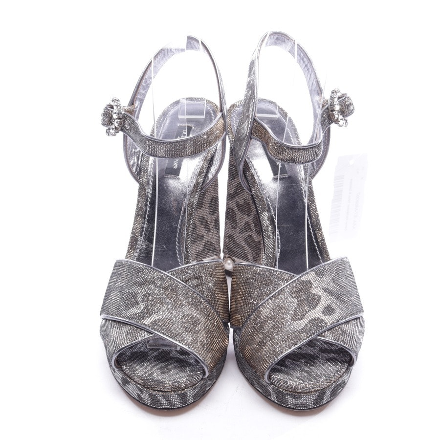 heeled sandals from Dolce & Gabbana in silver and gold size D 40 - new