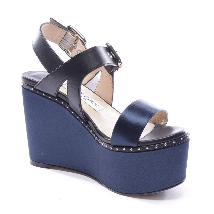 heeled sandals from Jimmy Choo in dark blue and black size D 37 - new