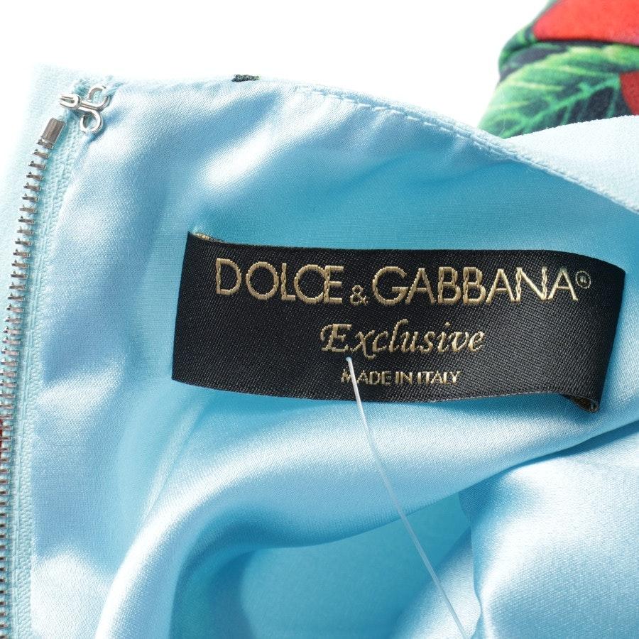 Sommerkleid von Dolce & Gabbana in Türkis und Rot Gr. 34 IT 40 - Neu