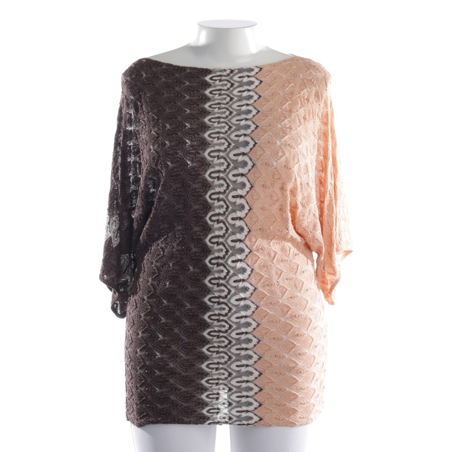 knitwear from Missoni in salmon pink and brown size S