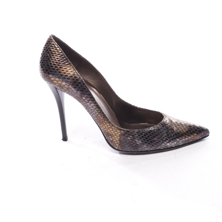 pumps from Stuart Weitzman in gold and black size D 38,5