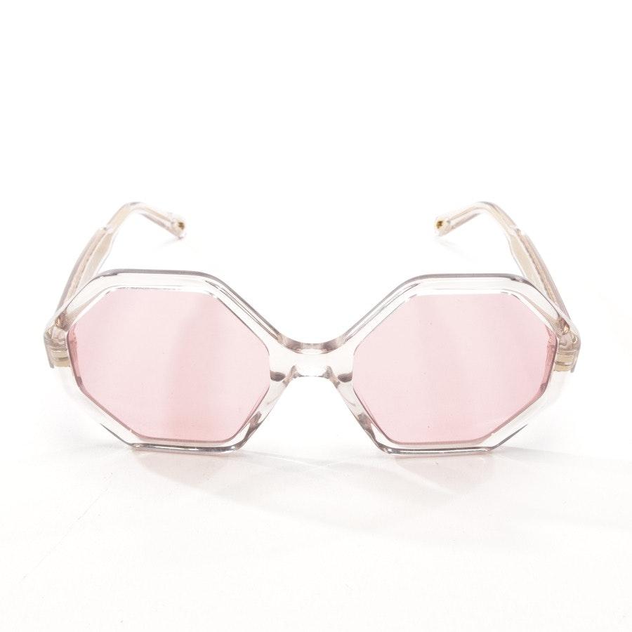 Sonnenbrille von Chloé in Transparent und Gold
