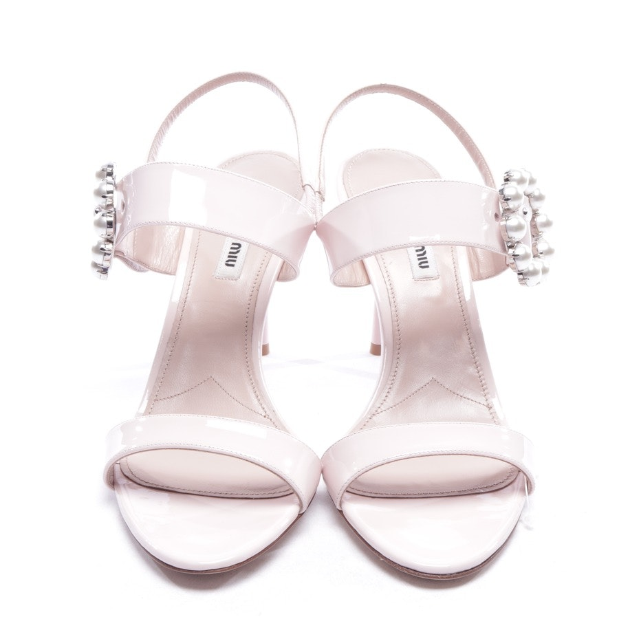 heeled sandals from Miu Miu in rosé size D 40 - new