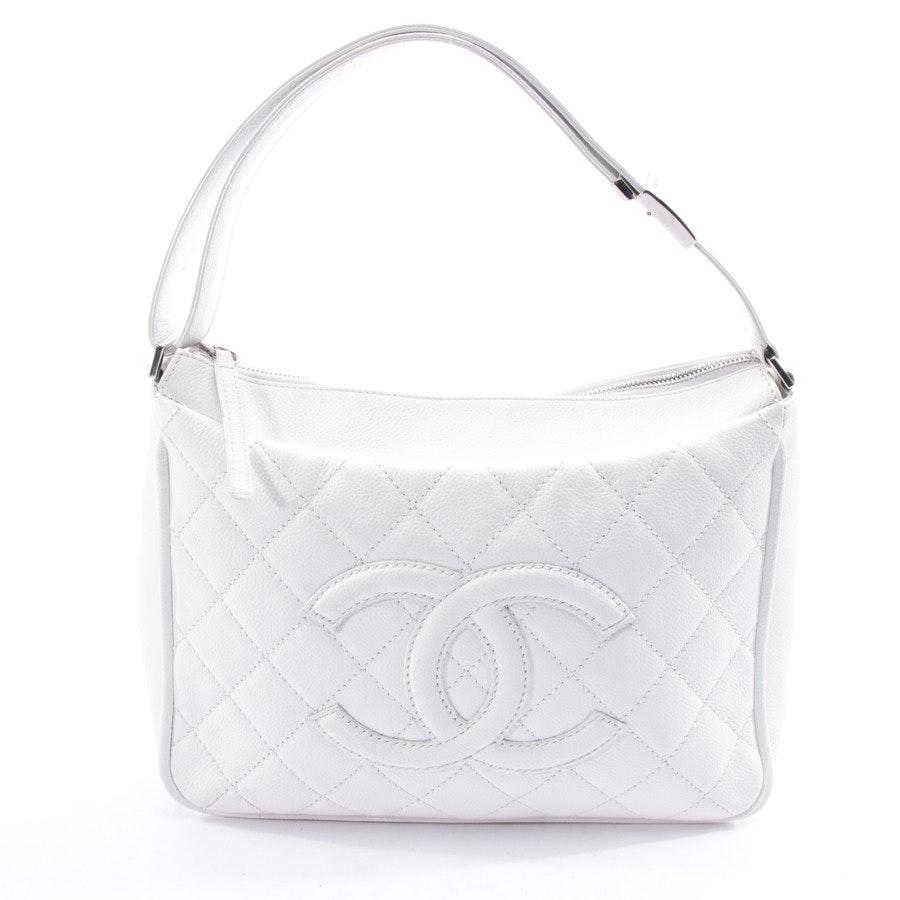 Schultertasche von Chanel in Weiß