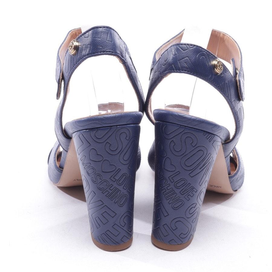 Sandaletten von Love Moschino in Blau Gr. D 41 - Neu