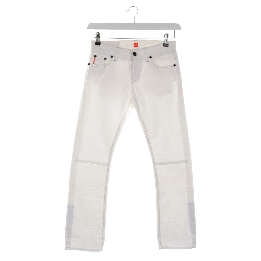 Jeans von Hugo Boss Orange in Creme Gr. W26